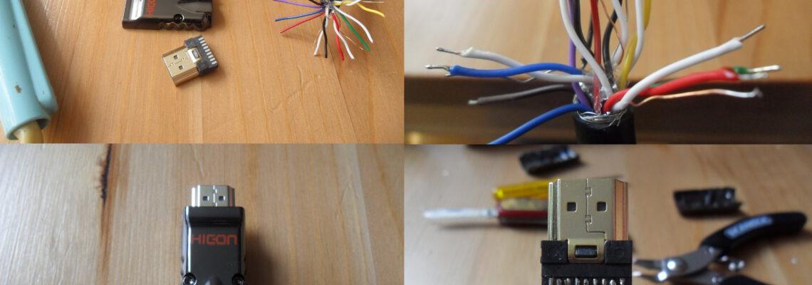 hdmi kabel repareren