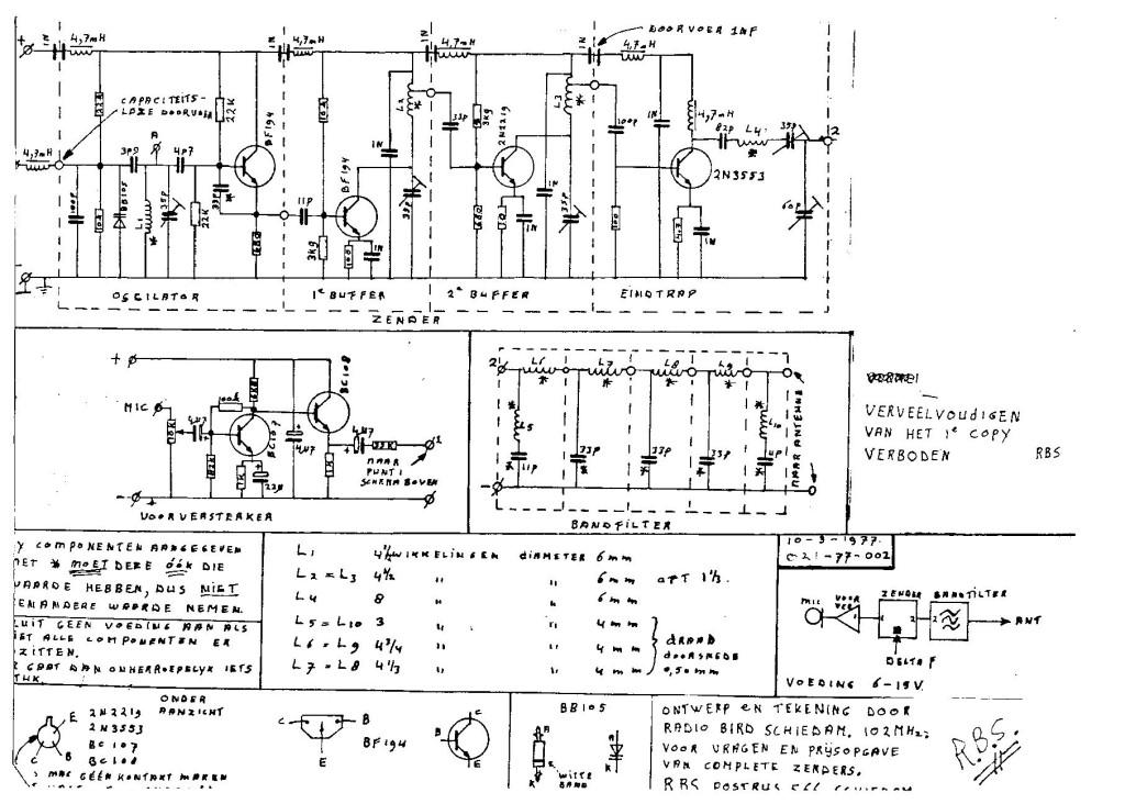 schema 3 meter zender